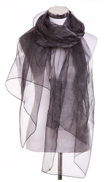 Schal 30/% Seide 70/% Leinen dünn transparent Knitterfalten SC-SL-KDK-1510E Blau